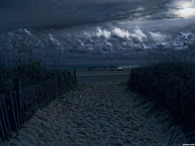 Moonlit-Beach