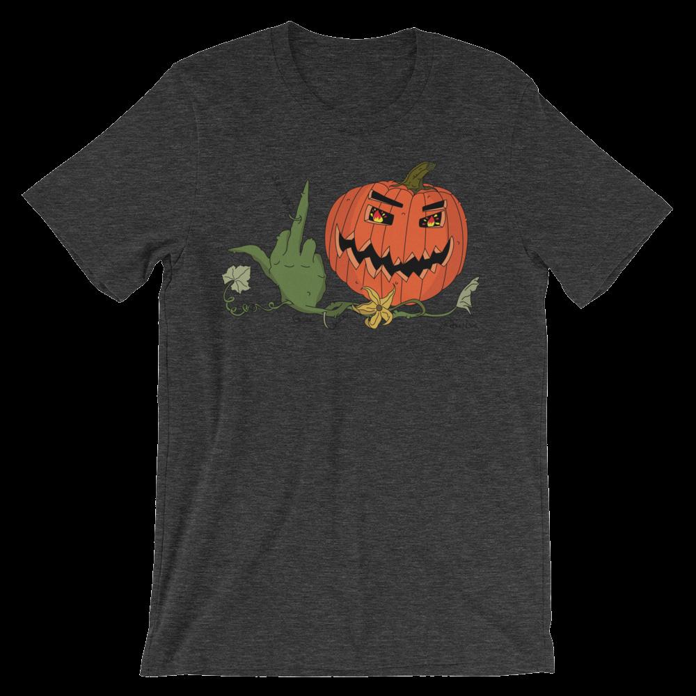 Angry Pumpkin_ Dark Heather Grey