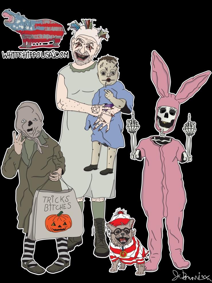 Halloween Group Portrait for TShirt_RGB Color-01