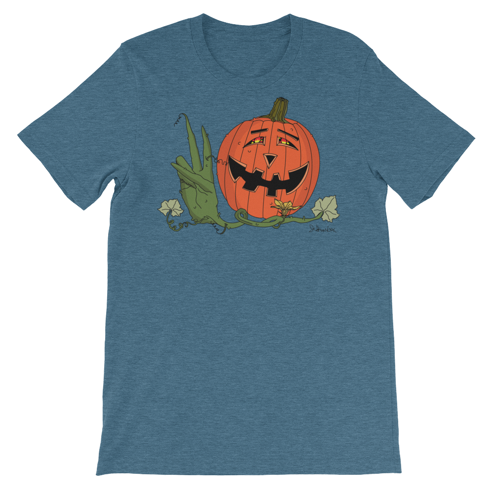 Happy Hippy Peaceful Pumpkin_ Heather Teal