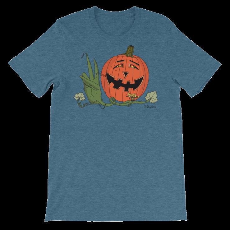 Happy Hippy Peaceful Pumpkin_ Heather Teal