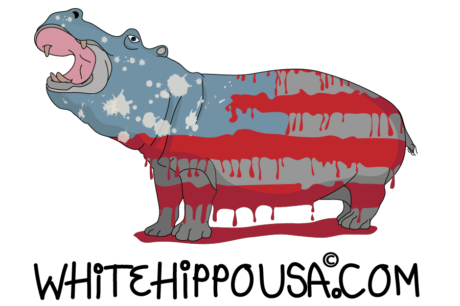 hippopotamus sticker logo for Printful-03