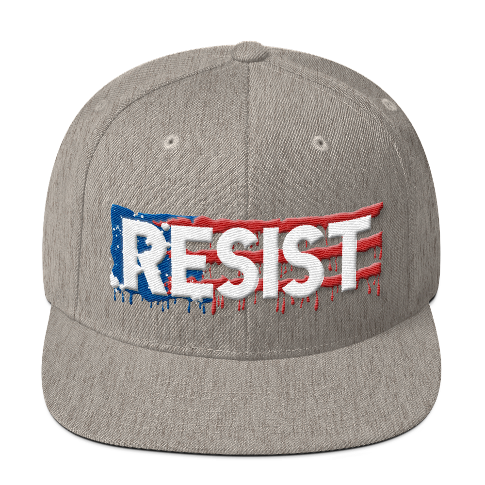 Resist Snapback Hat_ Heather Grey