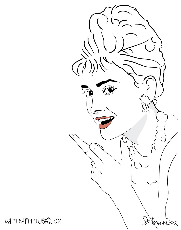 Audrey-Hepburn Middle FIner-21